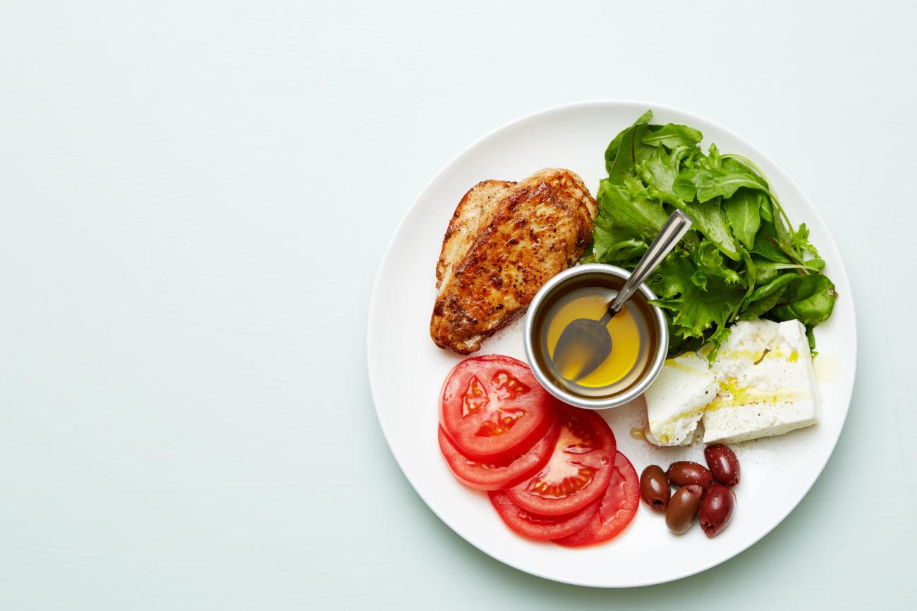 Курица-гриль с сыром фета