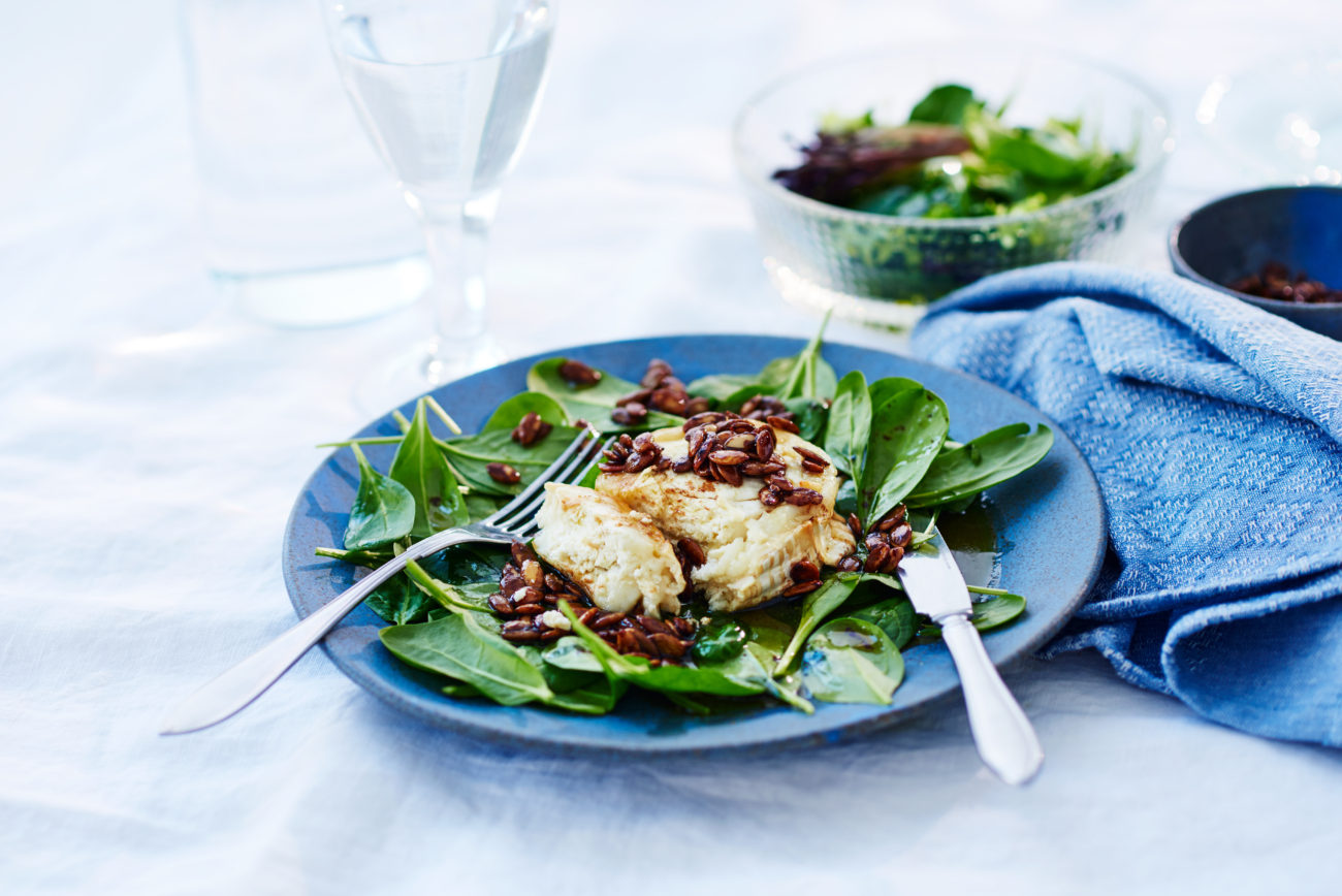 Салат из козьего сыра с бальзамическим уксусом