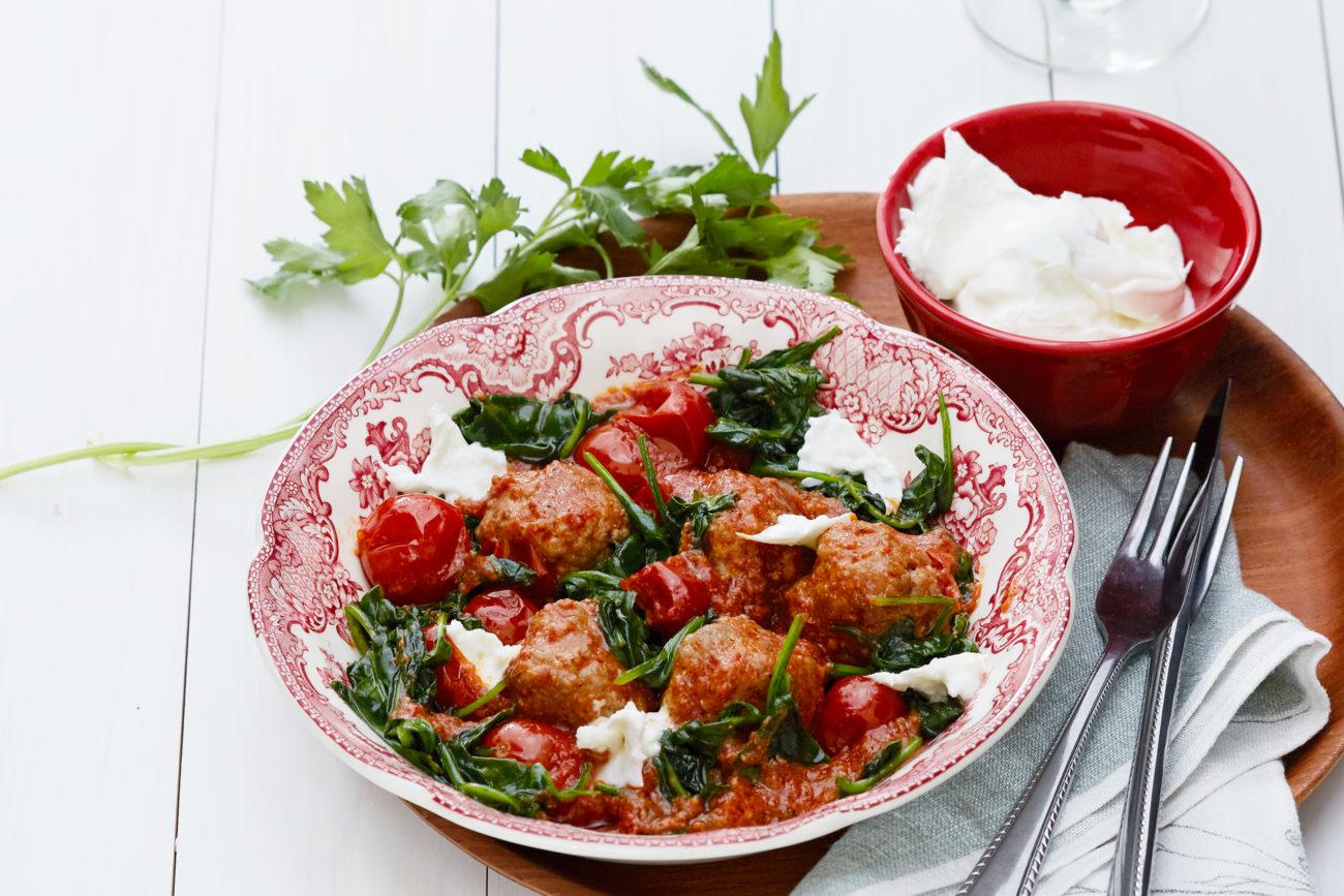 Итальянские фрикадельки с сыром моцарелла