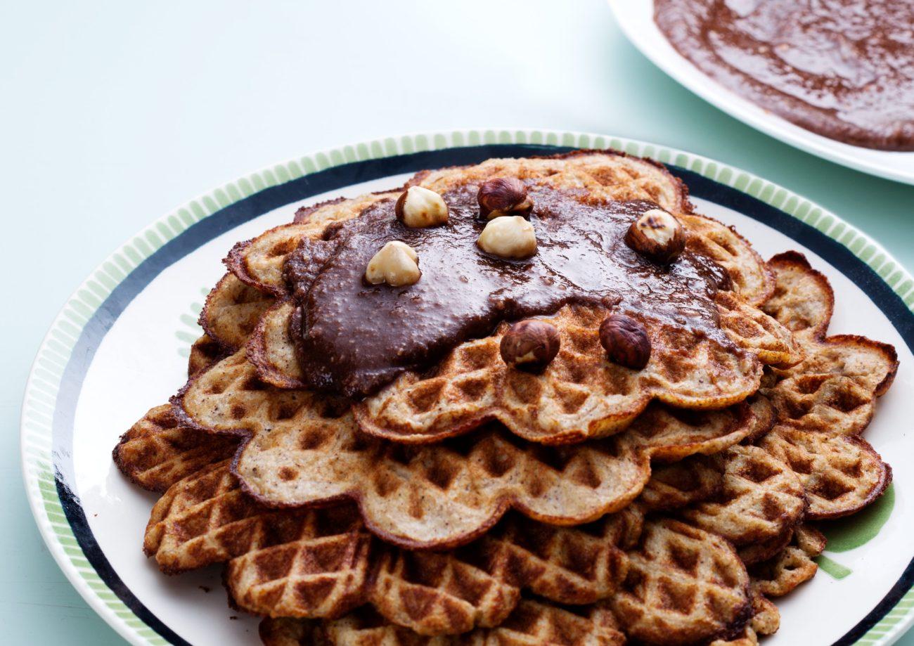 Банановые кето-вафли