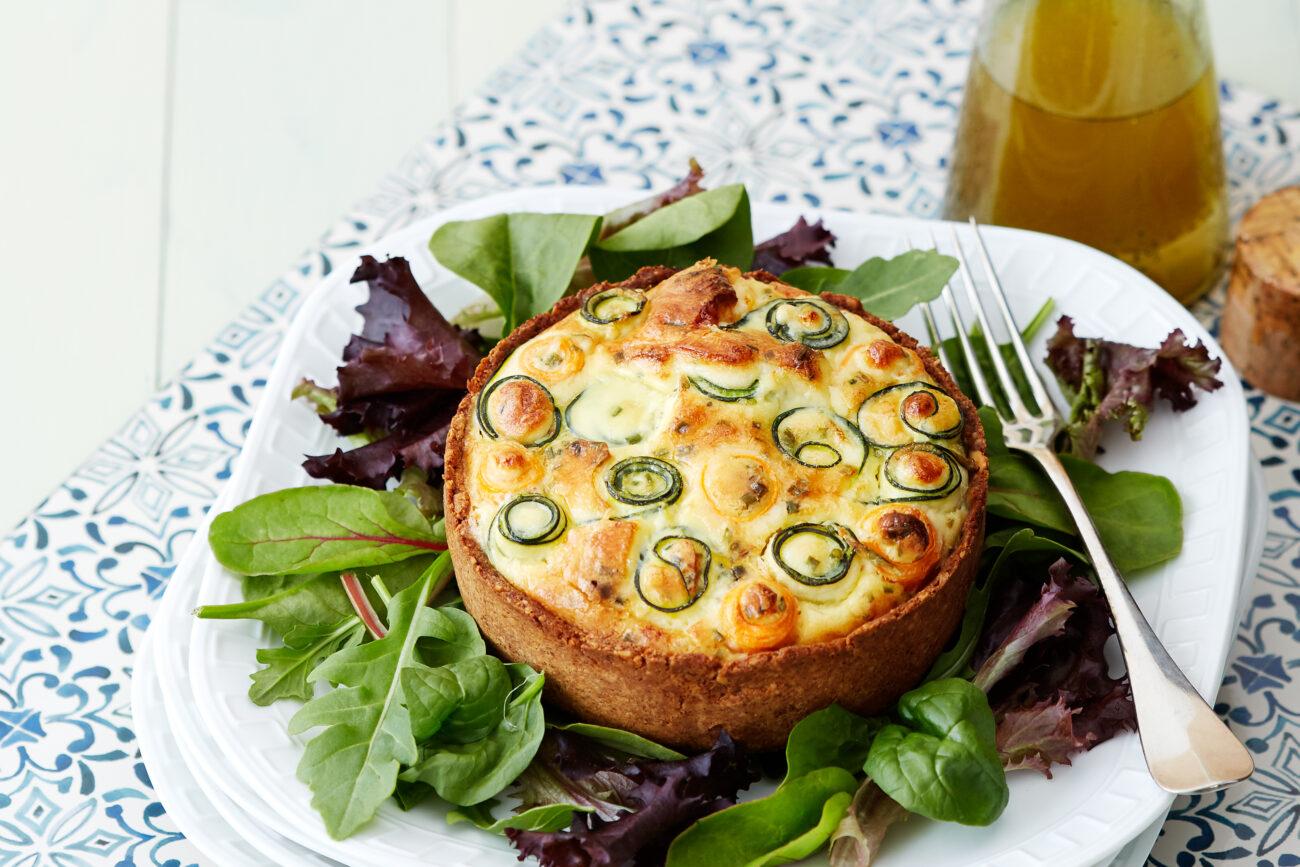 Безлактозный овощной кето-пирог